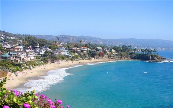 Обои Пляж города Orange County