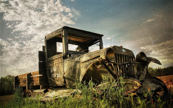 Papéis de Parede A memória do velho caminhão