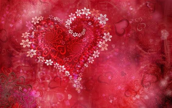 배경 화면 사랑의 발렌타인 데이 꽃