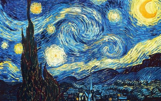 Fond d'écran Vincent van Gogh: Nuit étoilée