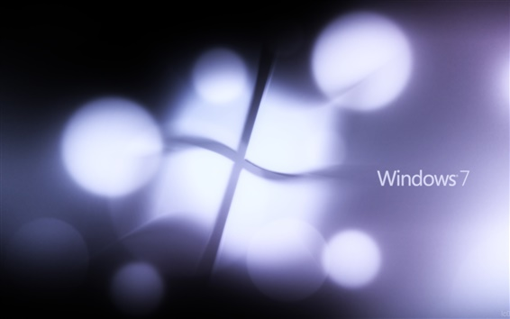 Fond d'écran La lumière logo Windows 7 clignote violet