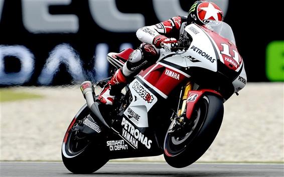 Wallpaper Yamaha motorcycle racing