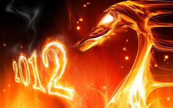 Fond d'écran 2012 Nouvel An le feu