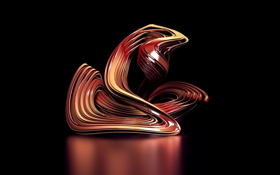Papéis de Parede 3D curva abstrata