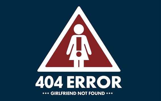 Wallpaper 404 Error Girlfriend not found