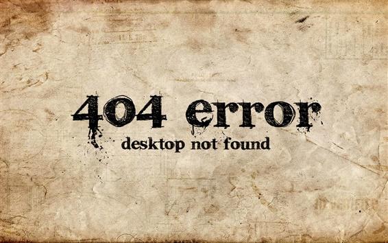 Обои Ошибка 404 настольных не найден
