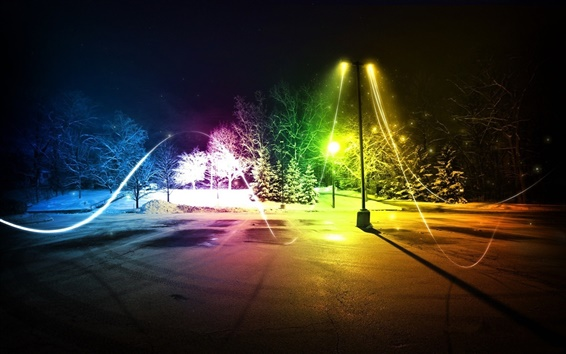 Wallpaper Abstract colorful light winter