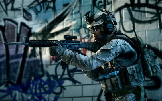 Wallpaper Battlefield 3 Combat soldier
