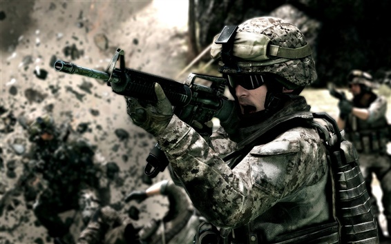 Wallpaper Battlefield 3 soldiers on the battlefield
