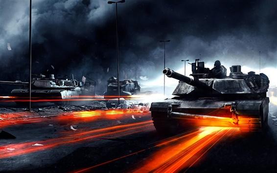 Wallpaper Battlefield 3 tanks
