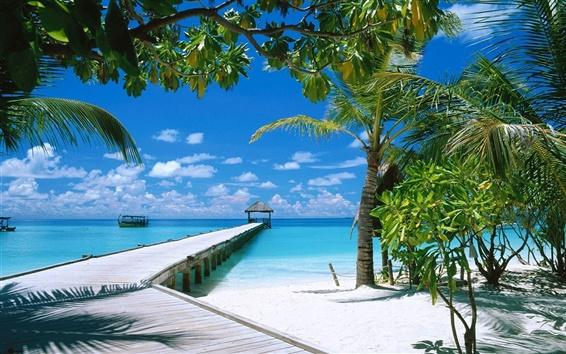 Wallpaper Beach dock