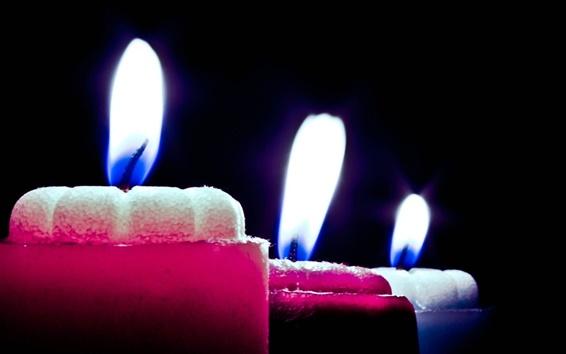 배경 화면 어둠의 촛불