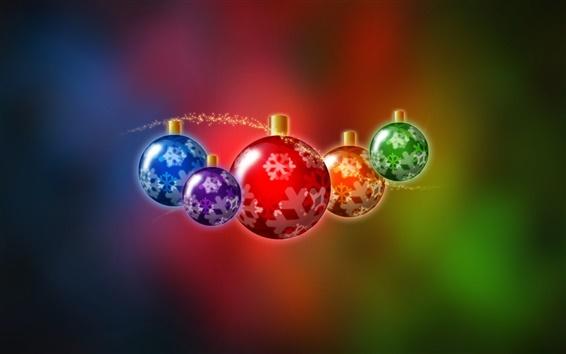 Wallpaper Christmas balls illustration