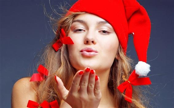 Wallpaper Christmas naughty girl