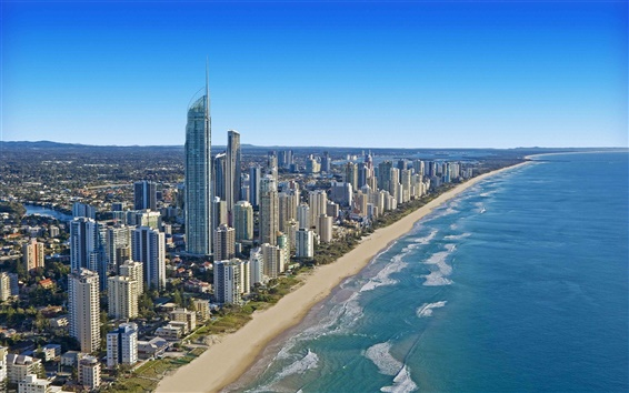 Wallpaper Cityscape Queensland Australia