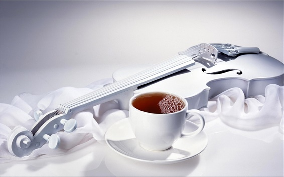 Wallpaper Coffee and violin