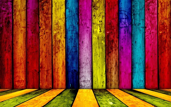 Wallpaper Colorful wooden abstract