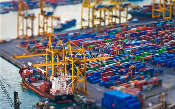 Wallpaper Container port photography