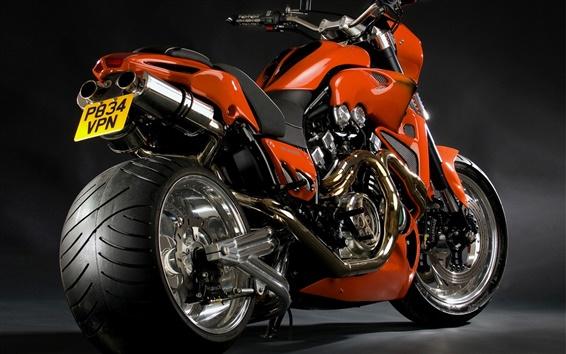 壁紙 涼しい赤いオートバイのクローズアップ