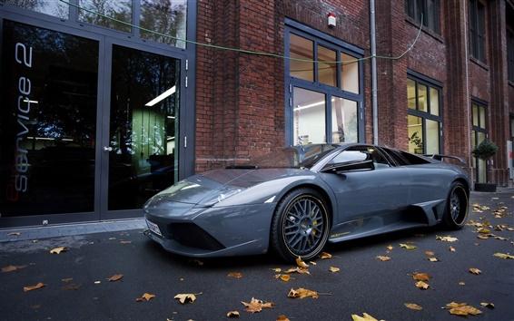 Обои Синий Lamborghini