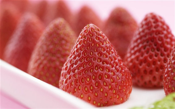 Wallpaper Delicious strawberry fruit