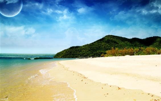 Обои Мечта пляж и синее небо