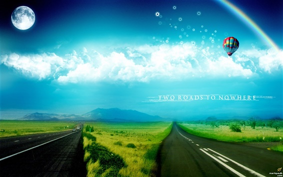 Wallpaper Dream world two roads to nowhere