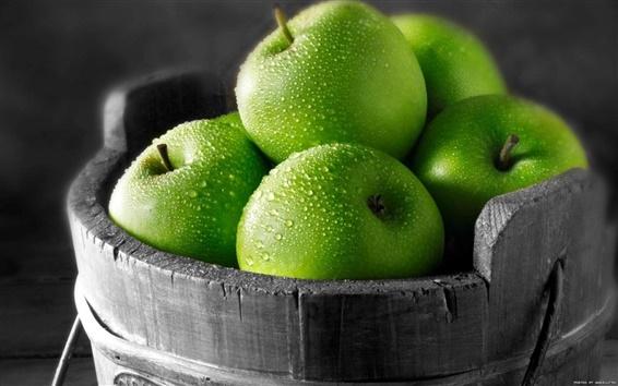 배경 화면 그린 사과