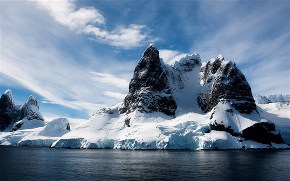 Обои Лед и горы пейзаж