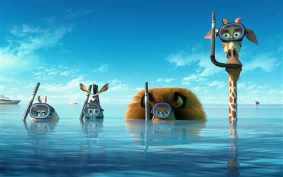 Hintergrundbilder Madagascar 3: Europas Most Wanted