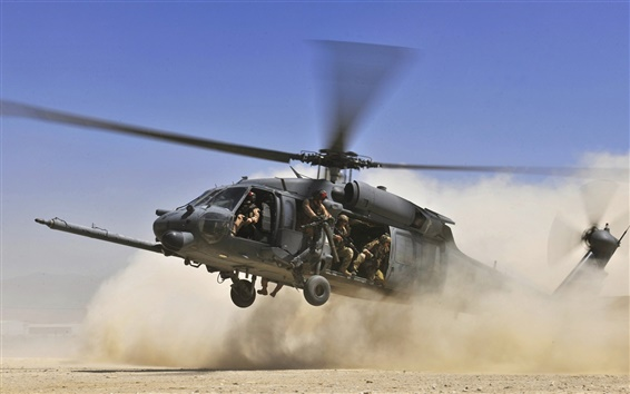 Wallpaper Military helicopter are landing