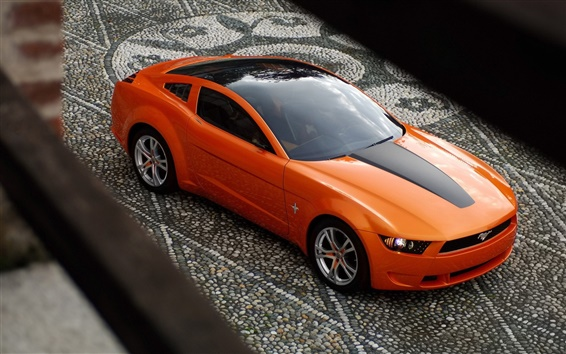 Fondos de pantalla Mustang naranja coche