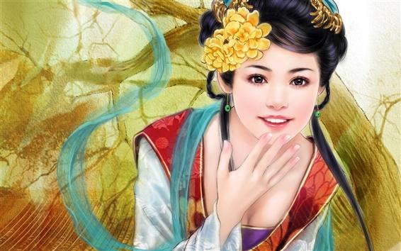 Wallpaper Painting Fantasy girl