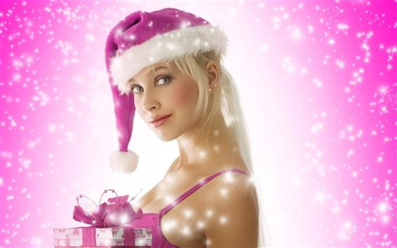 Fond d'écran Fille de Noël Violet