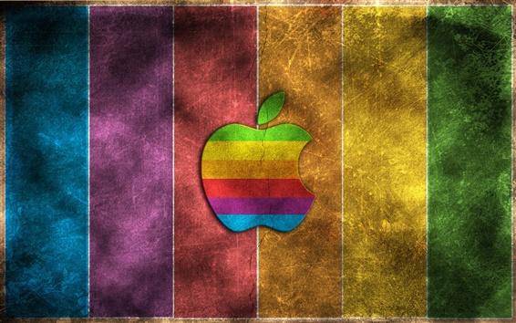 Wallpaper Rainbow Apple