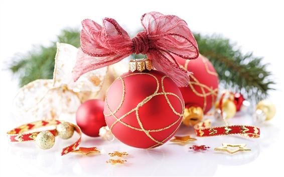 Fond d'écran Red boule de Noël close-up