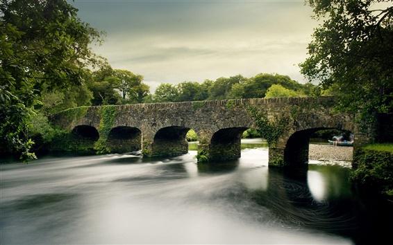 Обои Реки и каменный мост
