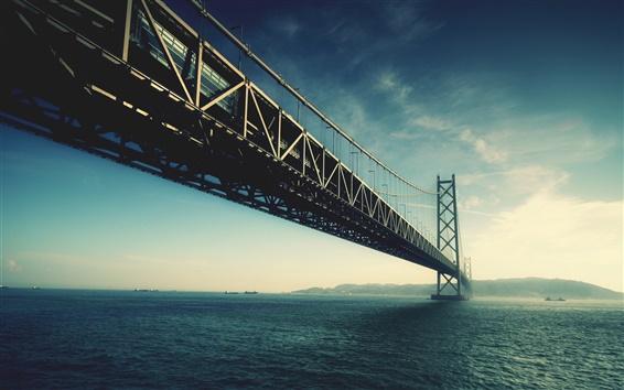 Fond d'écran pont de la rivière