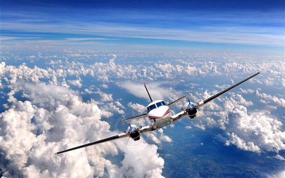 Wallpaper Sky clouds airplane