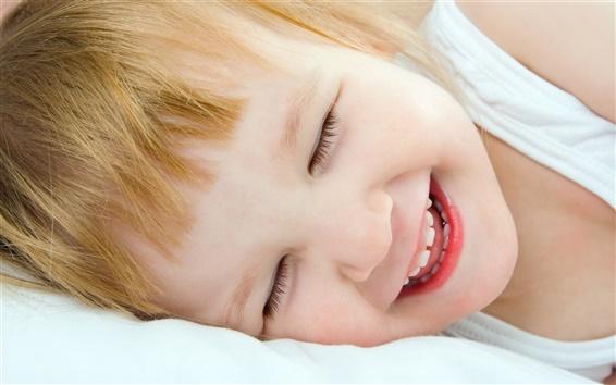 Wallpaper Sweet cute baby smile