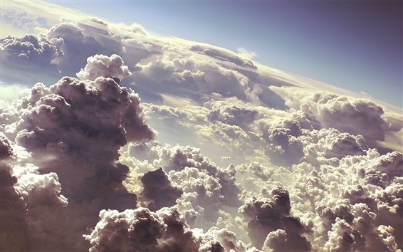 Fondos de pantalla Las oscuras nubes del cielo