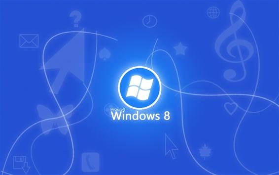 Обои Windows 8 синем фоне