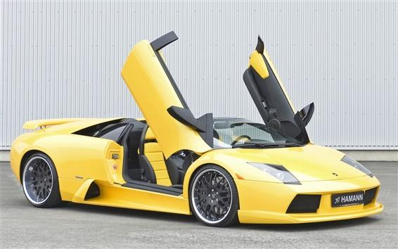 Обои Желтая Lamborghini
