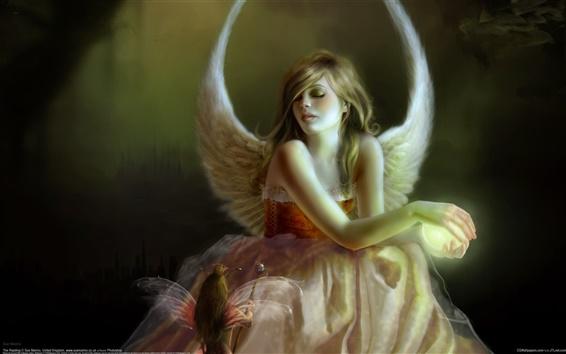 Wallpaper Angel girl elf wings