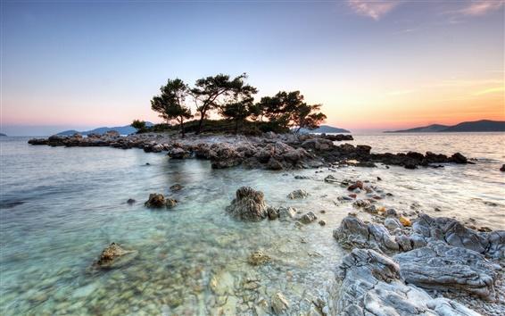 壁紙 浜小さな島