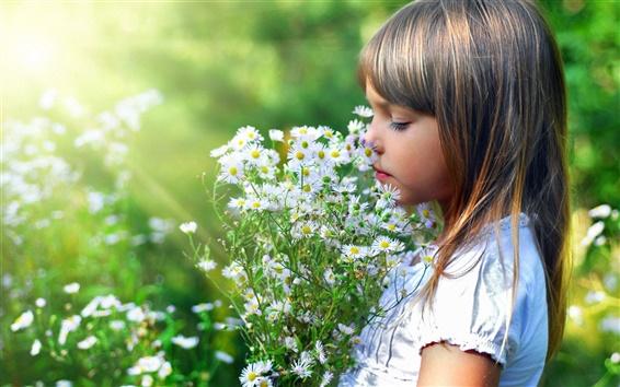 Papéis de Parede Menina linda flor