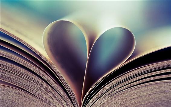 Wallpaper Book Love Heart