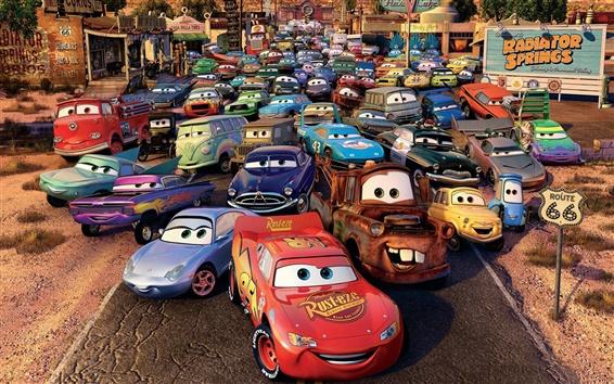 Fondos de pantalla Cars 2 numerosos aparcamientos