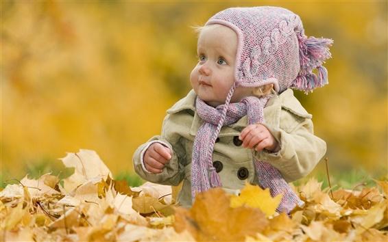 Wallpaper Cute baby fall