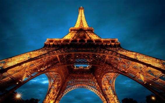 Fond d'écran Tour Eiffel de nuit